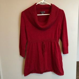 Oh Baby Maternity Red Sweater 3/4 length sleeves